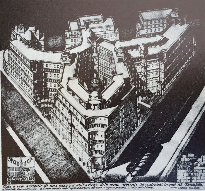 """Social Housing Project by ICP (""""Nuovo Trionfale"""") by Innocenzo Sabbatini (1930)"""