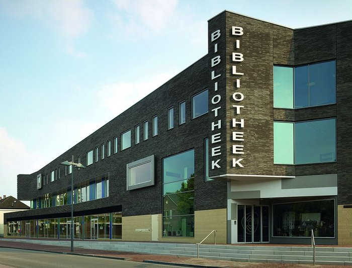 Helmond City Library, Netherlands, by Bolles + Wilson, 2010: what Adam calls 'Reflexive modernism'