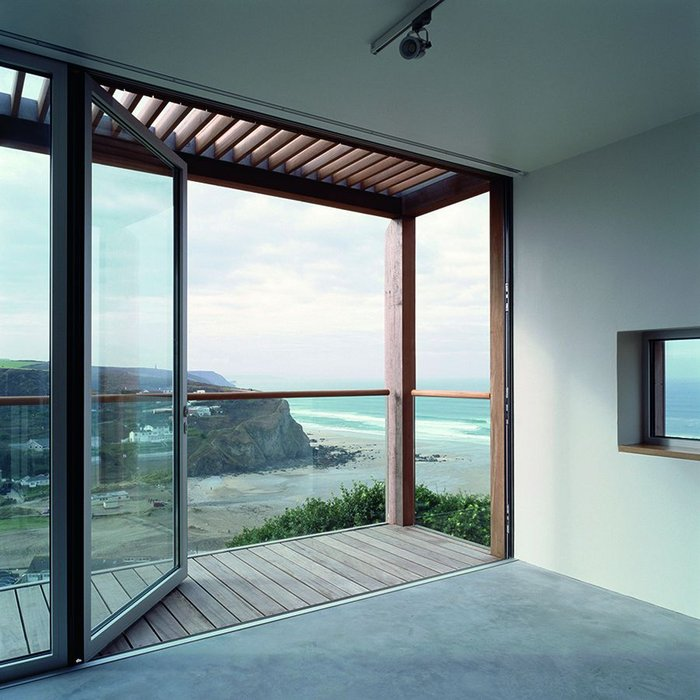 They also provide exterior space, allowing contemplation of some amazing coastal views.