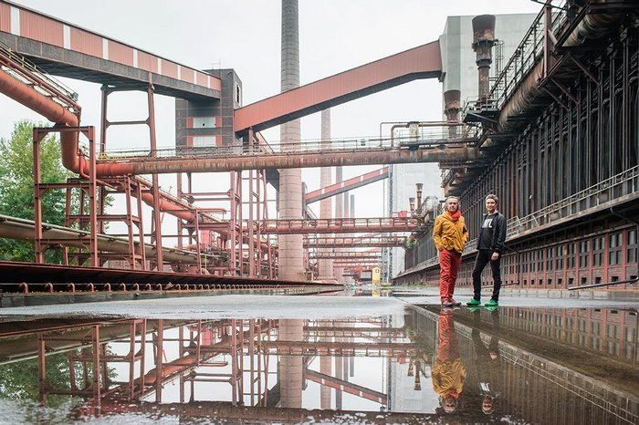 David West and Christophe Egret drawing lessons from OMA's masterplan of Zollverein Coal Mine in Essen, Germany.