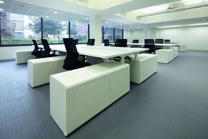 Storage and style were critical in the new desking system.