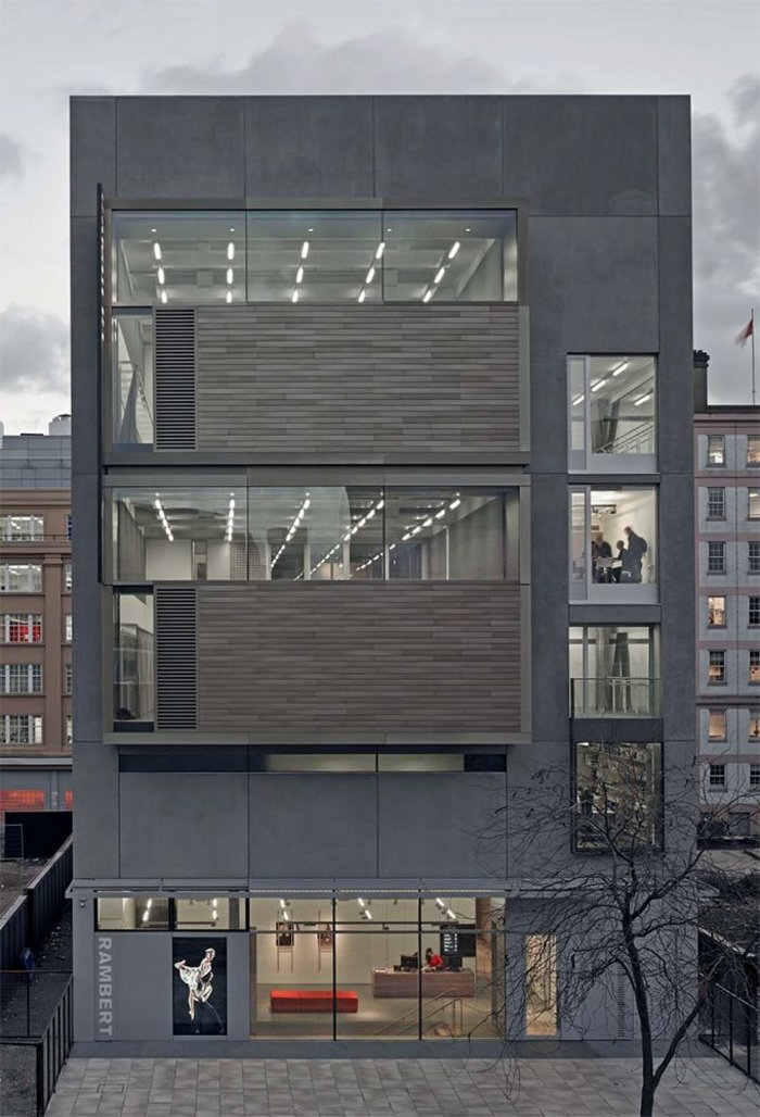 Facade of the building on Upper Ground makes a visual statement of the two smaller studios.