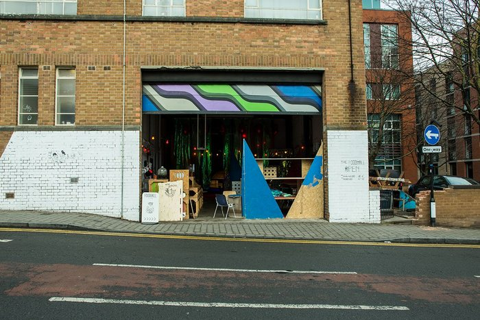 Shutters up, the Foodhall welcomes anyone off the street
