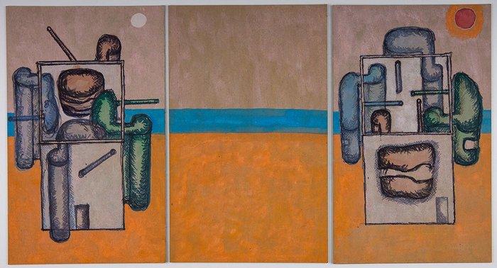 John Hejduk, Silent Witnesses The Extro-Intro House, 1975.