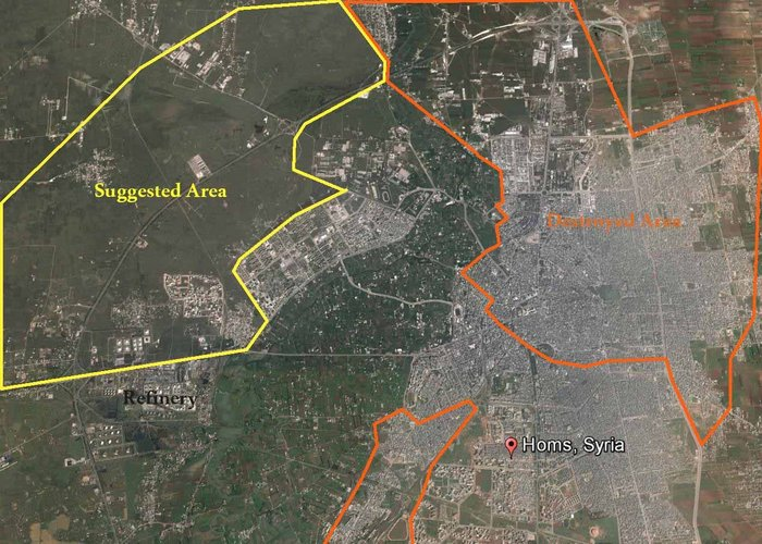 Proposal for a new Homs sited to the west of the war-ravaged city.