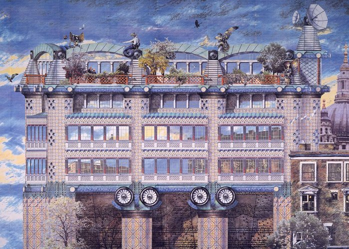 John Outram, Project (unrealised) for 200 Queen Victoria Street in London, for Rosehaugh-Stanhope Developers
