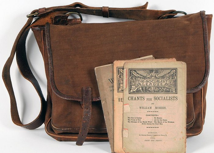 Satchel used by Morris to carry books and lectures