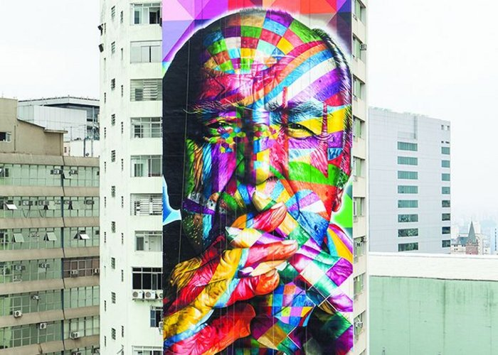Oscar Niemeyer mural by Eduardo Kobra.