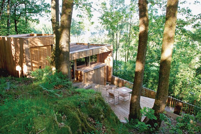 The Love Shack, Cumbria, by Sutherland Hussey for Adam Sutherland and Karen Guthrie. 'We sent the architects pictures of buildings we liked and got a fantastic result that we could never have imagined,' says Sutherland.