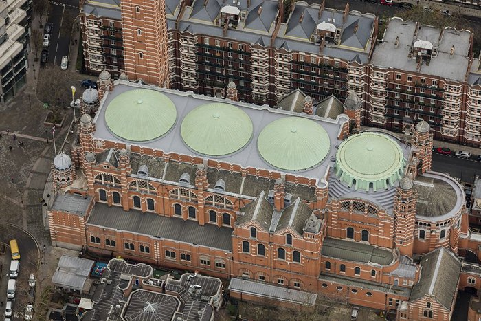 Abutments to the copper domes and brick parapets were the biggest challenge.