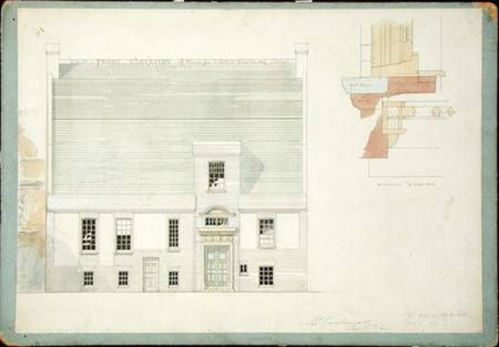 Influence on Galsworthy? Godwin's design for the 'White House' in Chelsea for Whistler.