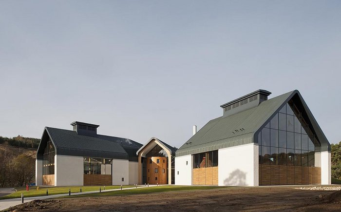 Dalmunach Distillery, Moray. Click on the image.