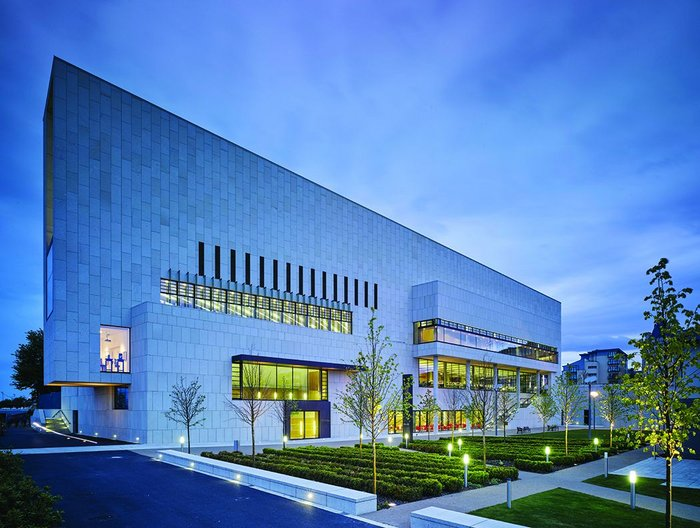 Built for longevity: Dun Laoghaire Lexicon library, 2015 winner of the Schueco Excellence Award designed by Carr Cotter & Naessens Architects working with contractor John Sisk and Sons and facade consultant Billings Design Associates.