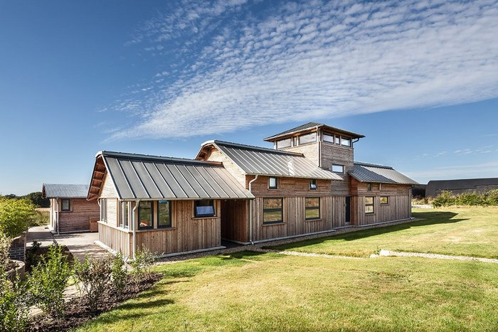 Energy efficient timber barn project.
