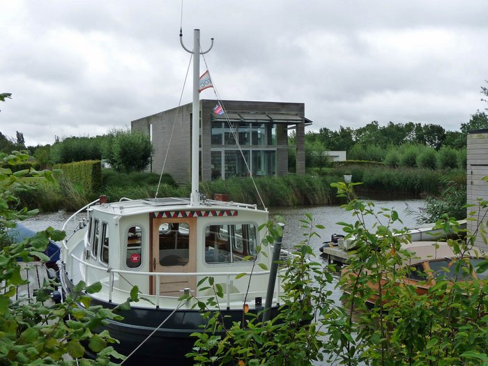 This is the idea - interesting houses with mooring attached