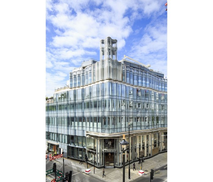 Dukelease's 61 Oxford Street, its cleverly procured glass facade disguising a skilful vertical arrangement of its mixed uses.