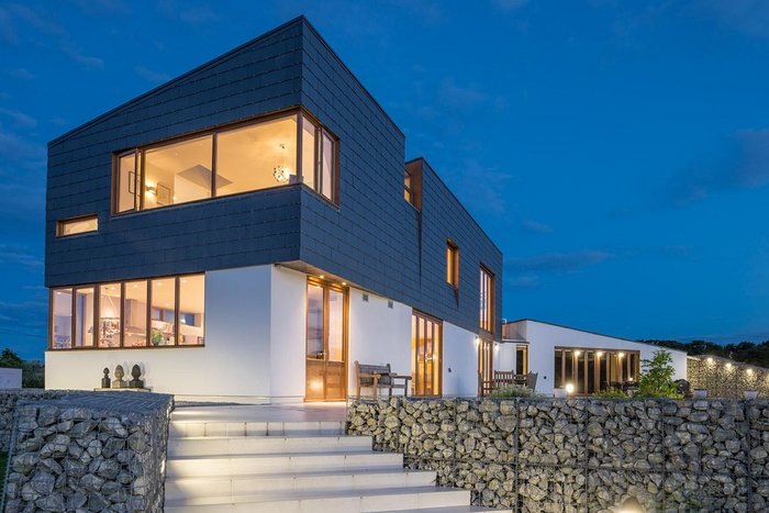Cupaclad 201 Vanguard cladding at Split House near Pett in Essex, designed by Alma-nac Architects.