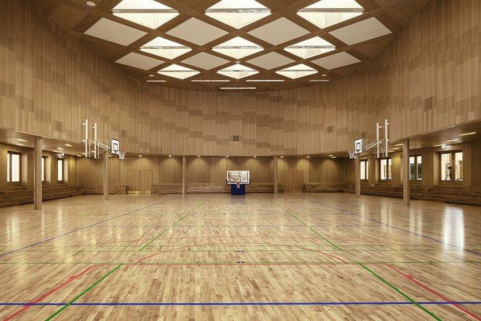 Junckers Leveldek installed at a gymnasium.