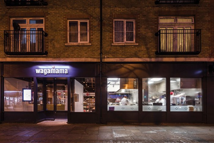 Kitchen activity is clearly visible from the street in Wagamama's new restaurant at Uxbridge, designed by Black Sheep.