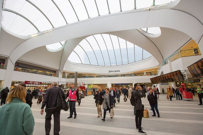 The ETFE roof might prove light and energy efficient, but great stations tend to opt for glass.