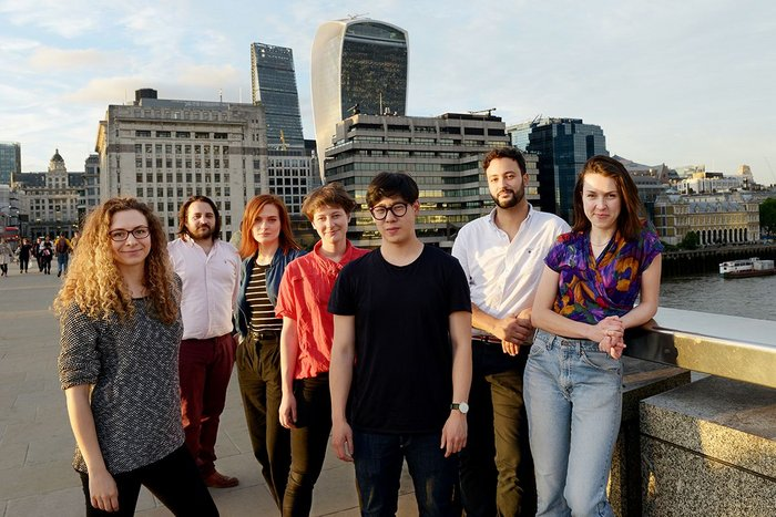 Students at the new practice-supported LSA: from left Rachel Bow, Stuart Goldsworthy-Trapp, Vanessa Jobb, Milly Salisbury, Timothy Ng, Frazer Haviz, and  Maeve Dolan.