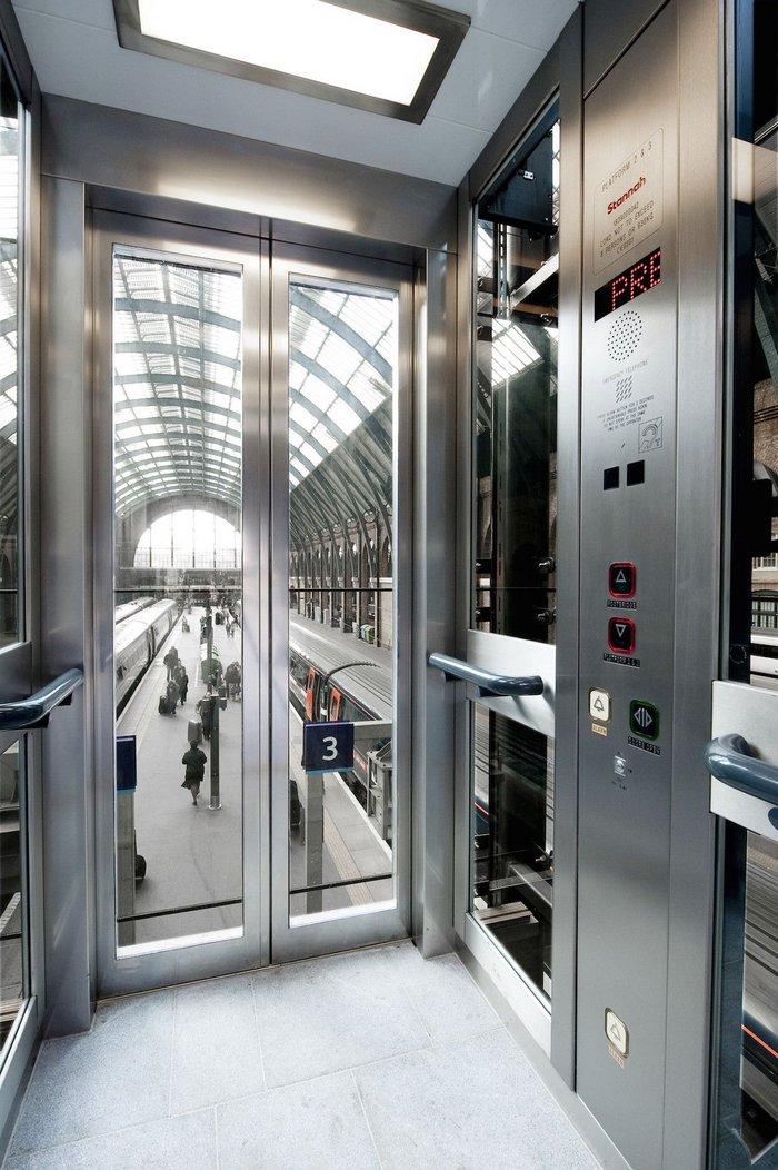 Stannah lift at King's Cross Station, London.