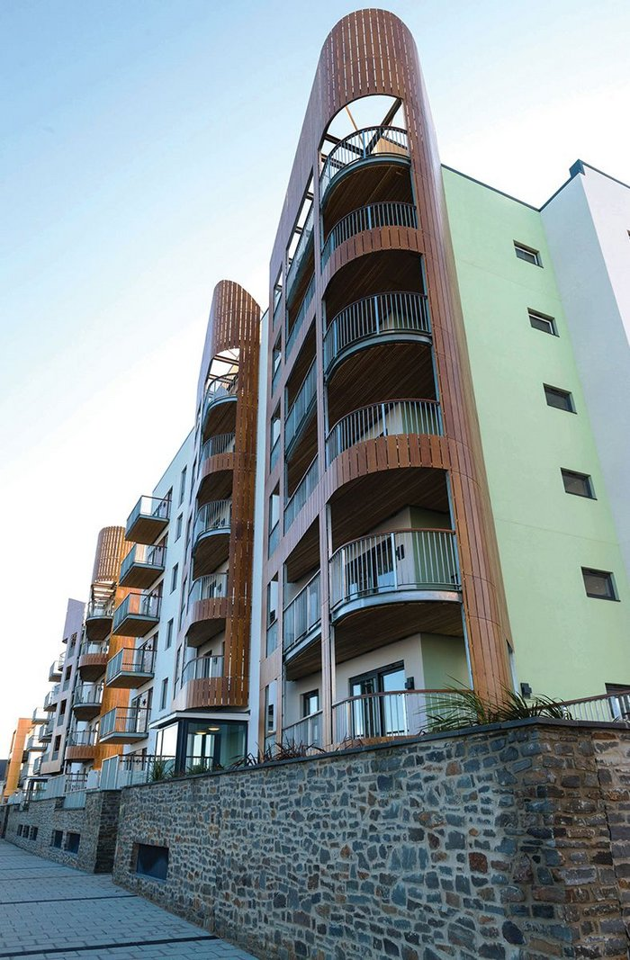 Knauf's SFS infill panels helped speed construction of Ninety4 on the Bristol Channel