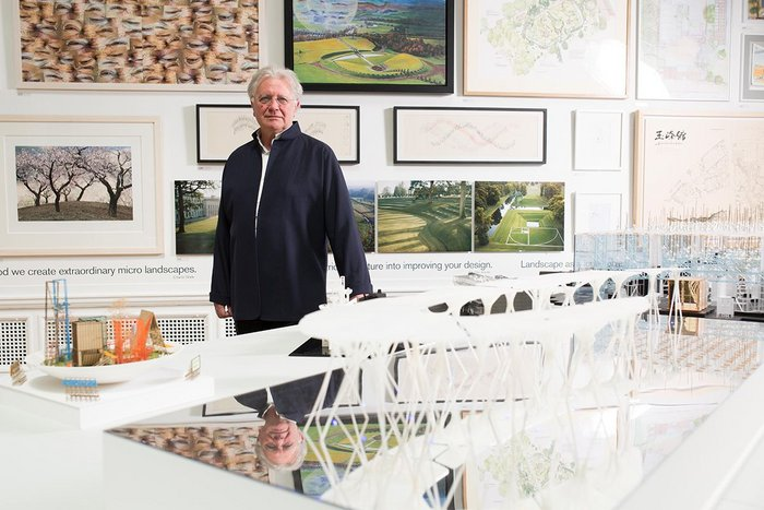 Ian Ritchie RA took landscape as the theme as he curated the Summer Exhibition 2015 Architecture Gallery