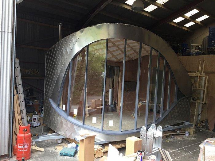 Dragon's Eye Epic Glamping cabin, designed by Carwyn Lloyd Jones.