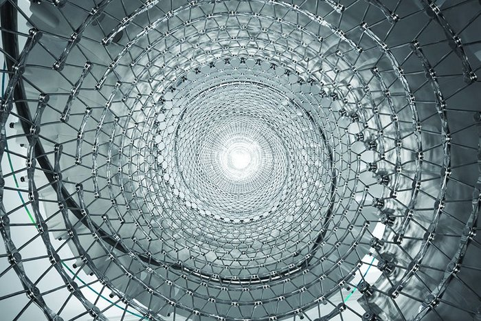 Wonder web: The steel mesh core around which Eva Jiricna's spiral stair at Somerset House is built.