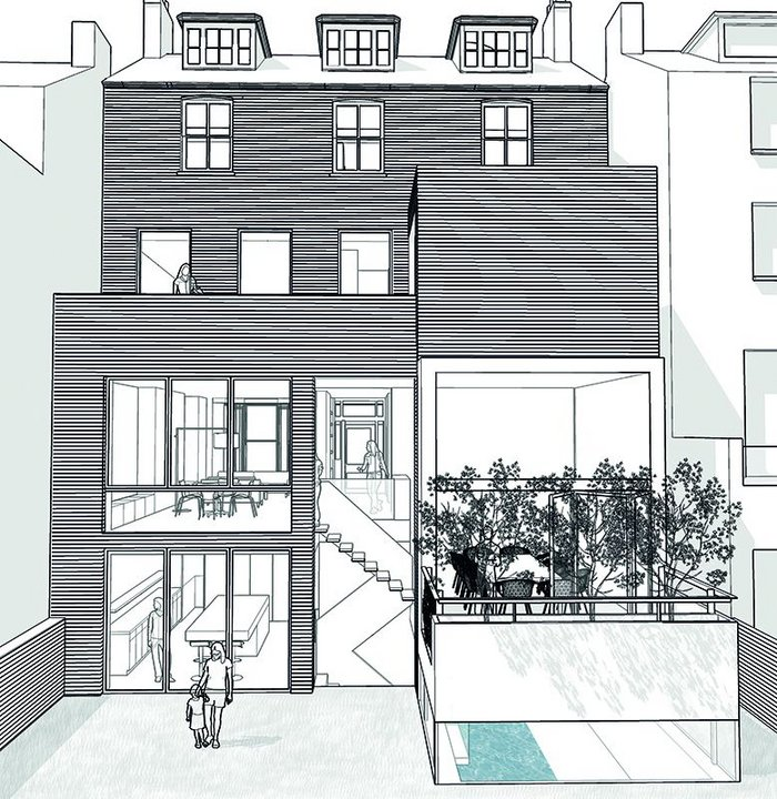 Top of the heap in West London – house with a basement pod.