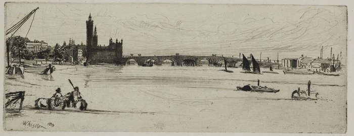 James Abbott McNeill Whistler – Old Westminster Bridge, 1871.