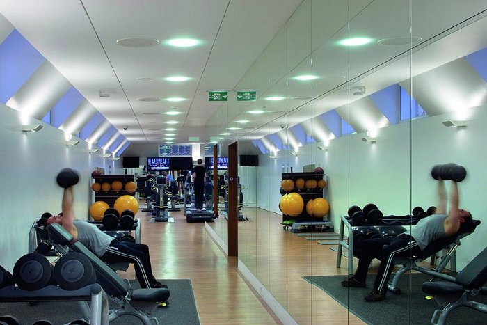A fitness centre now occupies the gabled top floor.
