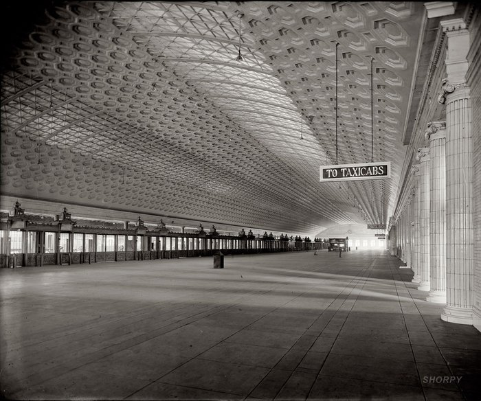 Union Station Concourse, Washington DC, Daniel H Burnham, 1903-7
