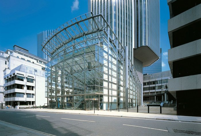 The challenge of designing a new entrance after bomb damage at Tower 42