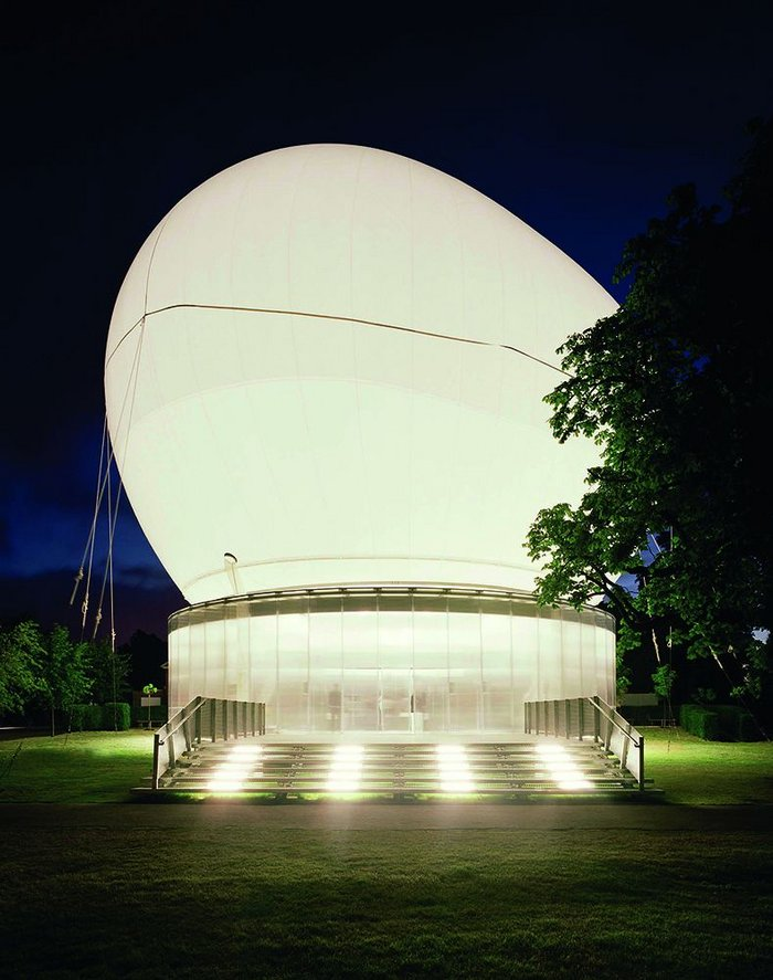 Where it all happened: Koolhaas' 2006 Serpentine pavilion.