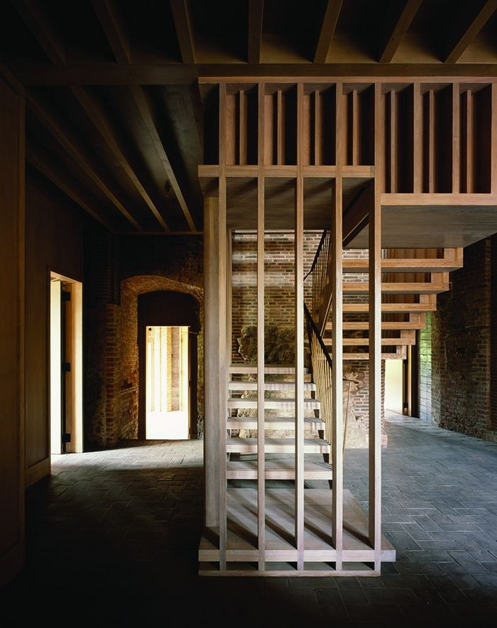 Much time was spent testing out configurations for this staircase at Astley Castle.