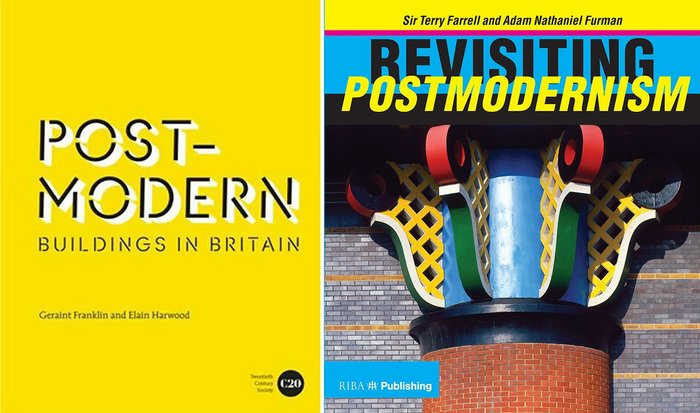 """Postmodern Buildings in Britain"" by Geraint Franklin and Elain Harwood (Batsford, £25) and ""Revisiting Postmodernism"" by Sir Terry Farrell and Adam Nathaniel Furman (RIBA Publishing, £35)."