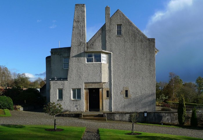 The Hill House, Helensburgh: west elevation © Mackintosh Architecture, University of Glasgow, 2014.