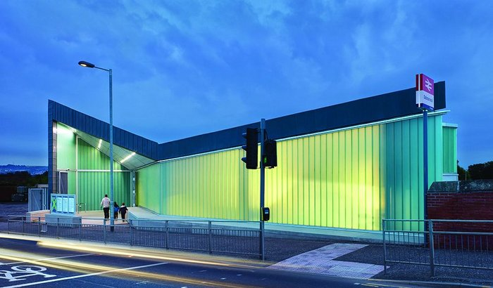 At last public transport gets a look-in: upgraded Dalmarnock Station by Atkins.