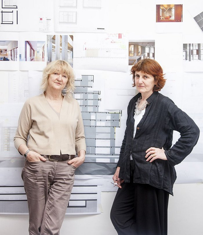 Conversational  to-and-fro: Grafton Architects' Yvonne Farrell, left, and  Shelley McNamara.