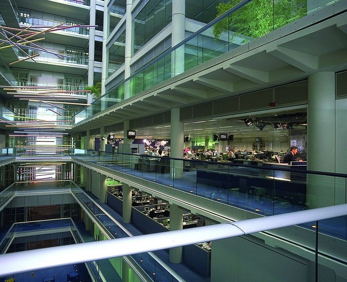 When completed, office spaces in the new ITN HQ were state of the art.