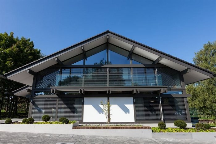 The UKs first HUF HAUS show home is in Weybridge Surrey