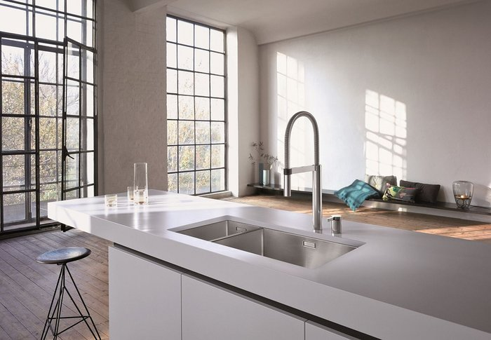 BLANCO's Claron sink with a Culina-S tap