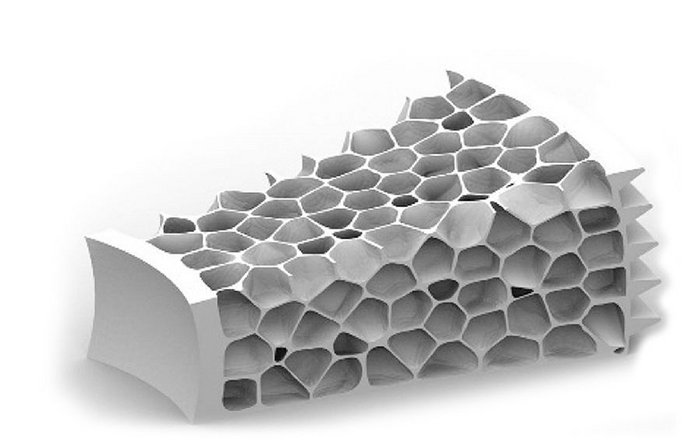 Drawing of the honeycomb printed structure.