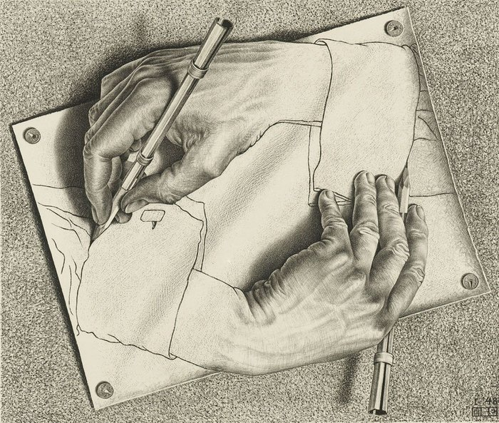 Drawing Hands 1948. The M.C. Escher Company
