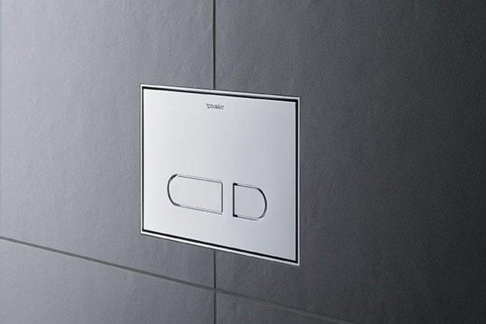 Duravit's new DuraSystem mechanical A1 toilet actuator plate.