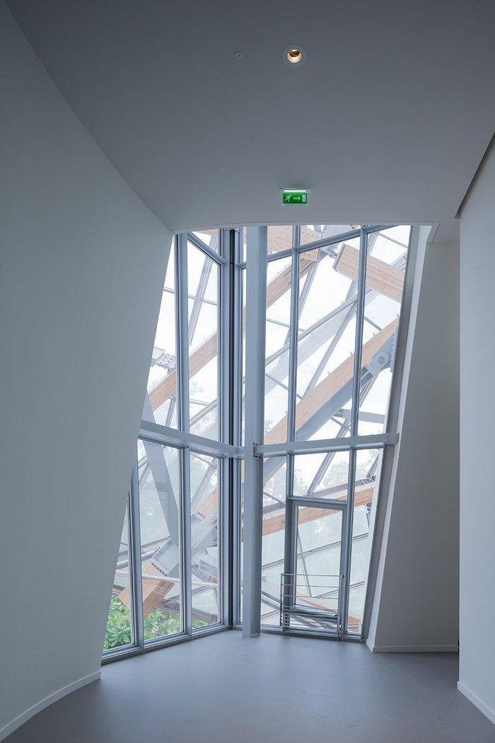 Frank Gehry's Louis Vuitton Foundation, Paris. Interior view.