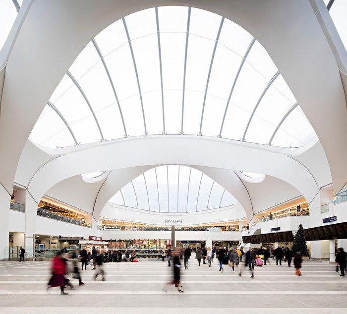 The roof at Birmingham New Street station by Atkins.