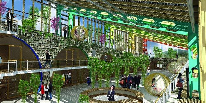 Atrium at Zhangwu Tourist Centre, China